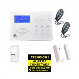 Kit de Alarma Táctil GSM Bysecur Pro 2. Central + 1 PIR + 1 Contacto Magnetico + 2 Mandos