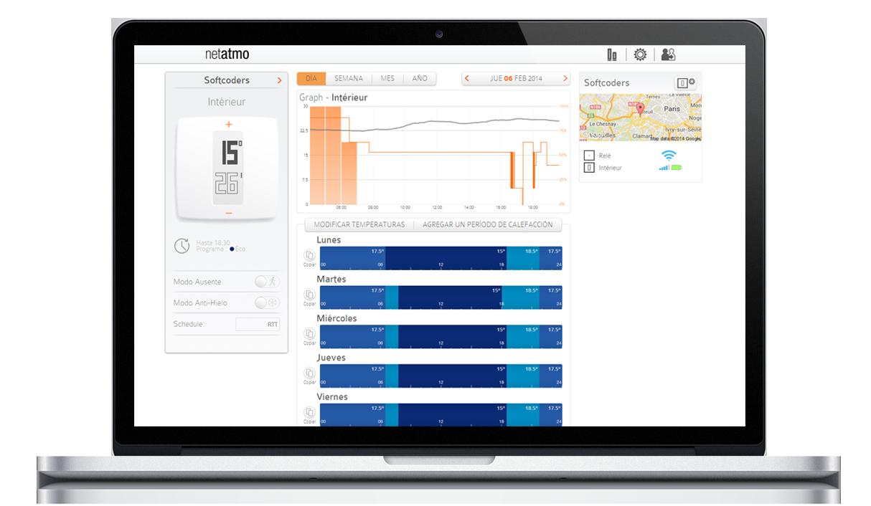 Aplicación web para control remoto del termostato inteligente Netatmo
